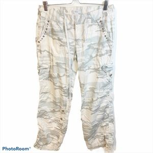 Express l Women's Grey Camouflage Cargo Pants